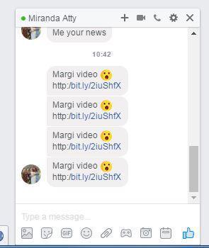 Facebook virus example